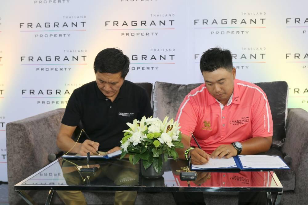"""Fragrant Property赞助泰国高尔夫球手""""Pro Arm"""" Kiradech Aphibarnrat;他是泰国第一位获得参加PGA锦标赛全系列赛美国PGA巡回赛卡的职业高尔夫球选手。"""